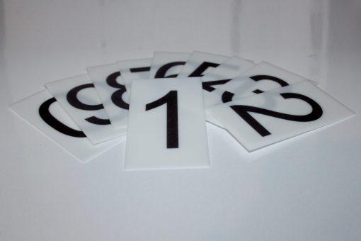 Набор пластиковых табличек 0-9