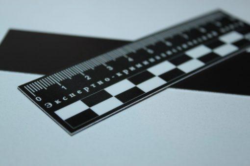 Масштабная линейка магнитная 10см чёрная