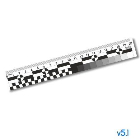 Криминалистическая масштабная пластиковая линейка v5.1 ч/б – 20см