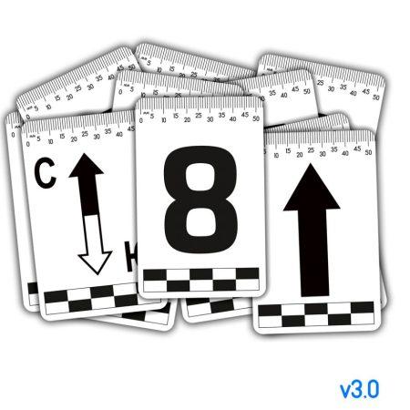Набор магнитных табличек 0-9+указатели(5шт) – 55х85мм (пластик) v3.0