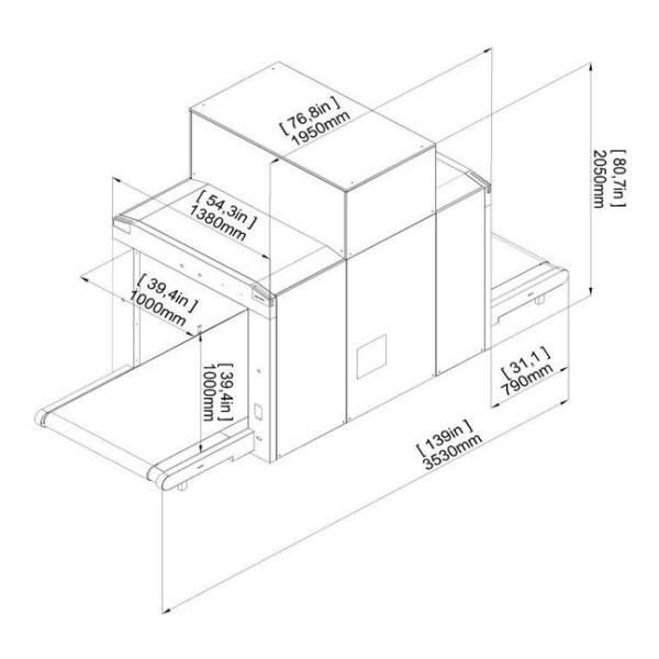 Размеры интроскопа XRC 100-100LC