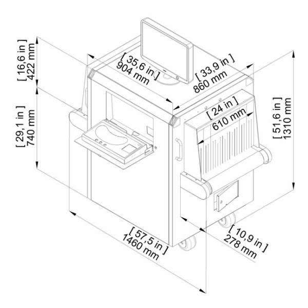 Размеры интроскопа XRC 60-40P