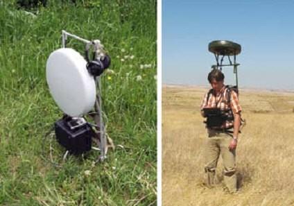 Радиопеленгатор Артикул-Н1 в носимом варианте: в сложенном и в рабочем положении.