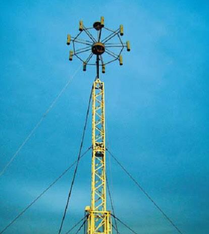 Антенная система АС-ПП4 на крыше здания
