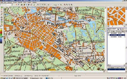 Окно программы СМО-КН при определении местоположения ИРИ
