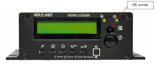 Рисунок 3. Передняя панель устройства MDL2-4U-03.