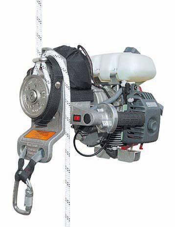 Автоматический индивидуальный веревочный подъемный механизм с бензиновым двигателем