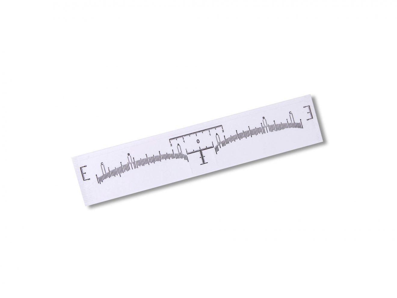 Наклейка-линейка для построения формы бровей, Brow Stick Ruler, с вырезом, 10 шт.